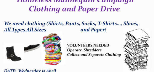 Homeless Mannequin_Clothing Drive